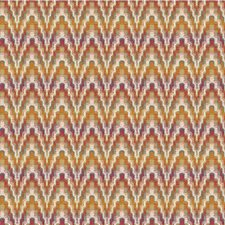 Pink/Sage/Orange Bargellos Decorator Fabric by Kravet