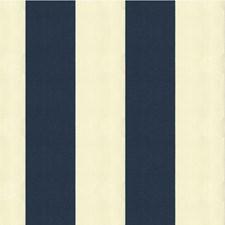 White/Blue Stripes Decorator Fabric by Kravet