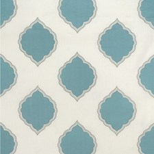 Light Blue/Grey/Ivory Medallion Decorator Fabric by Kravet