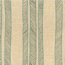 Aqua Stripes Decorator Fabric by Kravet