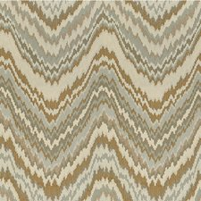 Taupe/Light Blue/Ivory Flamestitch Decorator Fabric by Kravet