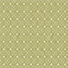 White/Celery Geometric Decorator Fabric by Kravet