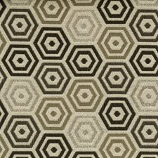 Silver Geometric Decorator Fabric by Kravet