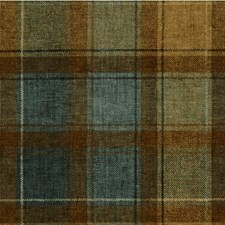 Brown/Blue/Beige Plaid Decorator Fabric by Kravet