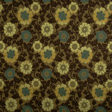 Aqua Mint Floral Decorator Fabric by Fabricut