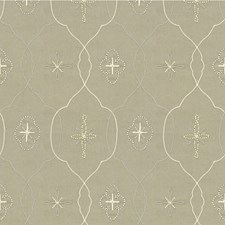 Snow Mist Lattice Decorator Fabric by Kravet