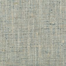 Blue/Beige Herringbone Decorator Fabric by Kravet