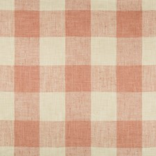 Light Yellow/Coral Check Decorator Fabric by Kravet