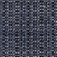 Dark Blue/Silver/Grey Metallic Decorator Fabric by Kravet