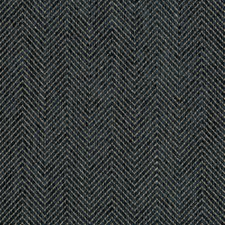 Dark Blue/Grey Herringbone Decorator Fabric by Kravet