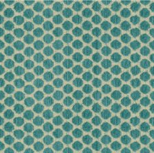 Beige/Turquoise Dots Decorator Fabric by Kravet