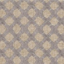 Beige/Grey/Silver Geometric Decorator Fabric by Kravet
