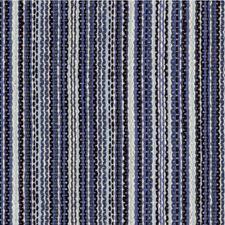 Blue/Light Blue/Ivory Stripes Decorator Fabric by Kravet