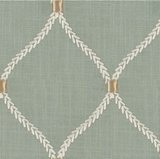 Sage/White/Beige Geometric Decorator Fabric by Kravet