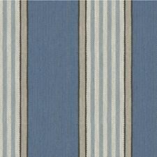 Blue/Beige/Brown Stripes Decorator Fabric by Kravet