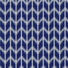 Blue/Beige Geometric Decorator Fabric by Kravet