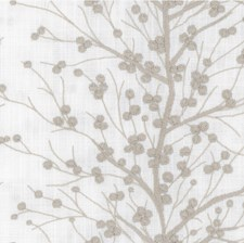 Light Grey/Ivory Botanical Decorator Fabric by Kravet