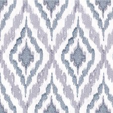 Blue/Light Blue Geometric Decorator Fabric by Kravet