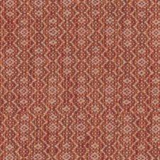 Red/Orange/White Geometric Decorator Fabric by Kravet