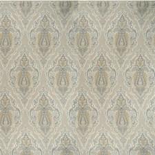 Blue/Ivory/Camel Damask Decorator Fabric by Kravet