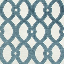 White/Blue Lattice Decorator Fabric by Kravet
