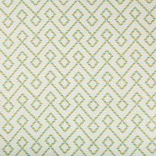 Green/Light Blue/White Lattice Decorator Fabric by Kravet