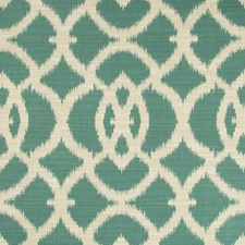 Teal/Beige/Green Ikat Decorator Fabric by Kravet
