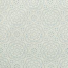 Light Blue/Beige Ethnic Decorator Fabric by Kravet