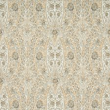 Charcoal/Camel/White Damask Decorator Fabric by Kravet