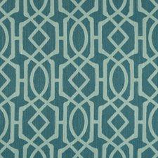 Teal/Light Blue Geometric Decorator Fabric by Kravet