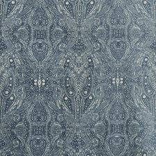Blue/Ivory Paisley Decorator Fabric by Kravet