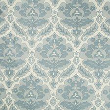 White/Blue/Light Blue Damask Decorator Fabric by Kravet