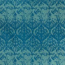 Teal Damask Decorator Fabric by Kravet