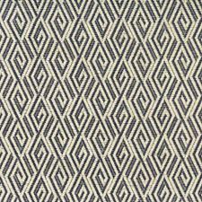 Indigo/Beige/Ivory Diamond Decorator Fabric by Kravet