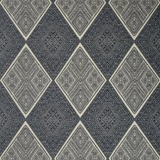 Beige/Dark Blue/Indigo Diamond Decorator Fabric by Kravet