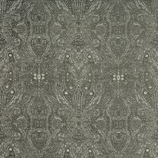 Charcoal/Ivory/Light Grey Paisley Decorator Fabric by Kravet