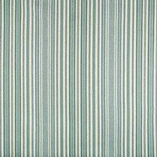 Turquoise/Blue/Beige Stripes Decorator Fabric by Kravet