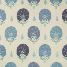Persian Blue Botanical Decorator Fabric by Kravet