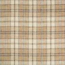 Brown/Beige/Light Grey Plaid Decorator Fabric by Kravet