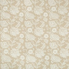 Beige/White Botanical Decorator Fabric by Kravet