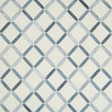 White/Blue/Light Blue Diamond Decorator Fabric by Kravet