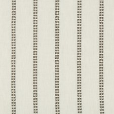 Grey/Ivory Stripes Decorator Fabric by Kravet