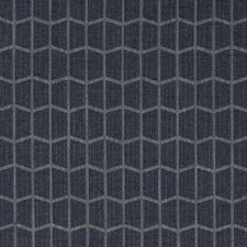 Indigo/Grey Geometric Decorator Fabric by Kravet