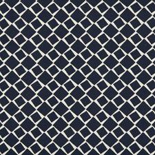 Navy Geometric Decorator Fabric by Kravet