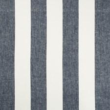 White/Indigo Stripes Decorator Fabric by Kravet