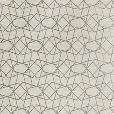 Turquoise/Spa Geometric Decorator Fabric by Kravet
