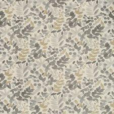 White/Grey/Gold Botanical Decorator Fabric by Kravet