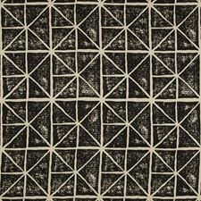 Beige/Black Geometric Decorator Fabric by Kravet