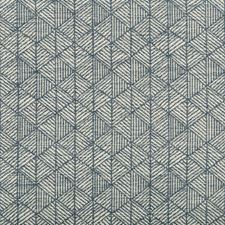 Blue/White Small Scales Decorator Fabric by Kravet