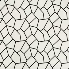 Black/White Geometric Decorator Fabric by Kravet